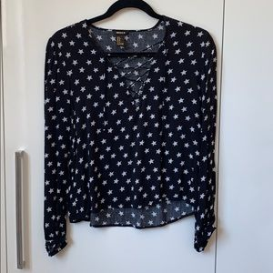 Forever 21 Star Top with Tie Front